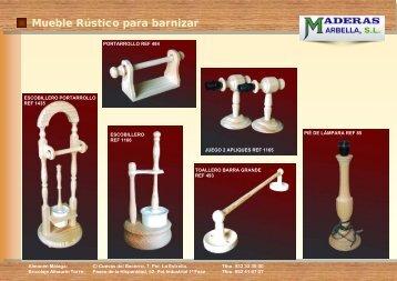 Mueble Rústico para barnizar - Maderas Marbella, SL.