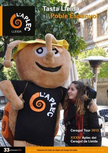 Tasta Lleida al Poble Espanyol Tasta Lleida al ... - Aplec del Caragol