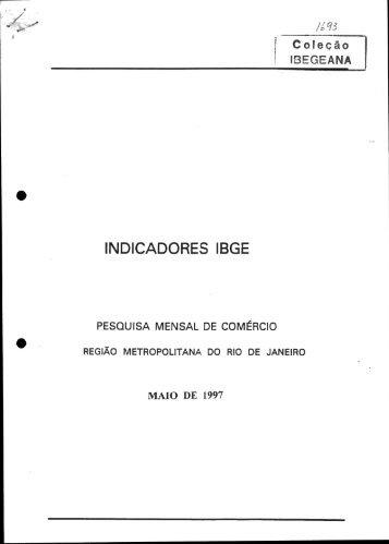 INDICADORES IBGE - Biblioteca do IBGE