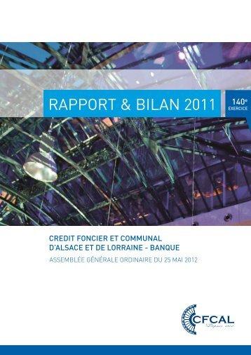 RAPPORT & BILAN 2011 - Webdisclosure.com