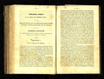Primera divicion. Del derecho publico, de la religion - cdigital
