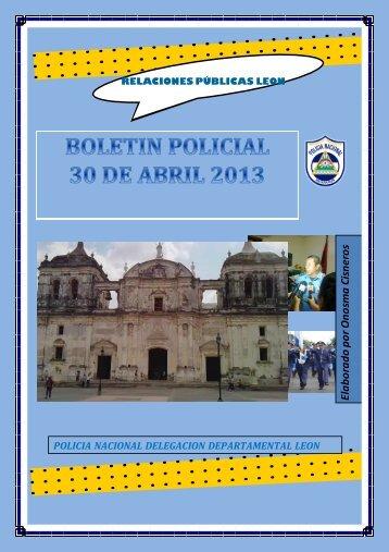 Boletin De León - policia nacional
