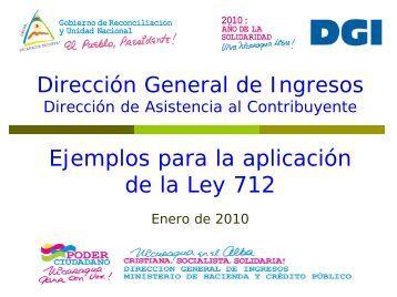 Ejemplos para la aplicación - Dirección General de Ingresos DGI