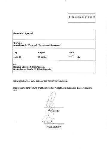 Ausschluss für Wirtschaft, Verkehr und Bauwesen - Amt Breitenburg