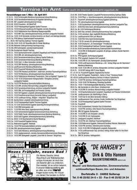Nr. 3 · März 2011 · 39. Jahrgang Informationsblatt ... - Amt Eggebek