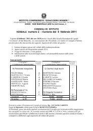VERBALE numero 2 - riunione del 8 febbraio 2011
