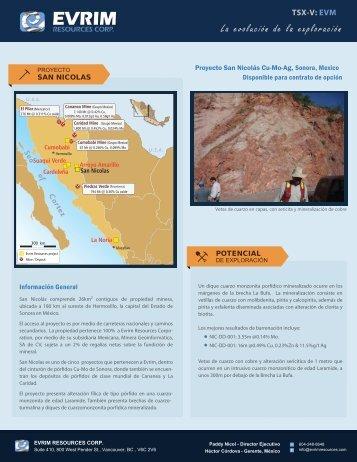 La evolución de la exploración - Evrim Resources Corp.