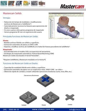 Mastercam Solids - CIM Co