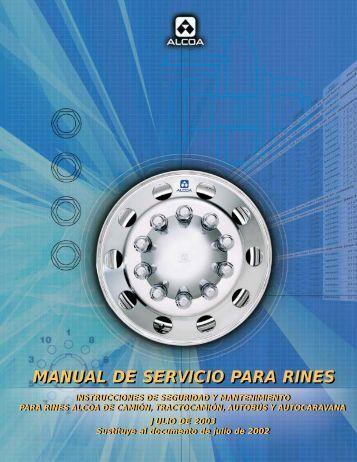 MANUAL DE SERVICIO PARA RINES - Alcoa
