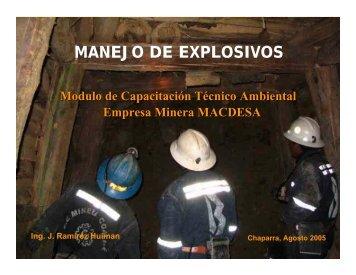 MANEJO DE EXPLOSIVOS - Geco - MineroArtesanal