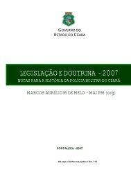 LEGISLAÇÃO E DOUTRINA - 2007 - Página Inicial