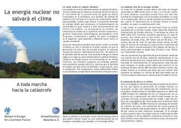 La energía nuclear no salvará el clima - Umweltinstitut München e.V.