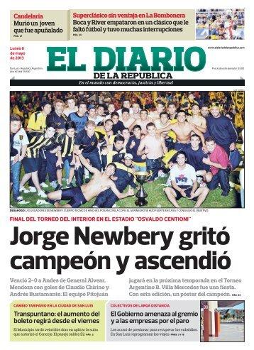 Jorge Newbery gritó campeón y ascendió - El Diario de la República