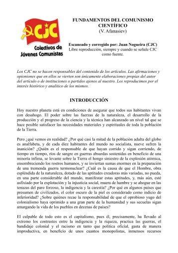FUNDAMENTOS DEL COMUNISMO CIENTÍFICO - Colectivos de ...