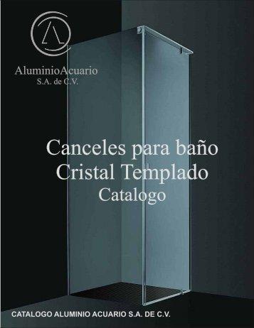 CRISTAL TEMPLADO catalogo - Aluminio Acuario Página de inicio
