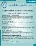 CRISTAL TEMPLADO catalogo - Aluminio Acuario Página de inicio - Page 3