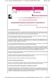 Incapacidad temporal: prescripción o caducidad