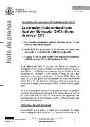 Nota de prensa - Ministerio de Hacienda y Administraciones Públicas