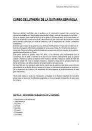 LUTHERIA DE LA GUITARRA (Procesos construcivos)