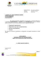 Manual de Procedimientos - Gobierno Municipal de Lázaro Cárdenas