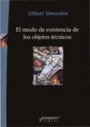 CAPÍTULO I Génesis deI objeto técnico: eI proceso de ... - EVA