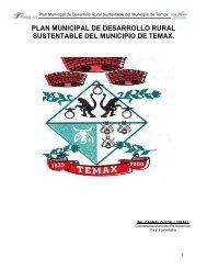 plan municipal de desarrollo rural sustentable del municipio de temax.