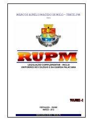 Regulamento de Uniformes PM - Polícia Militar do Ceará