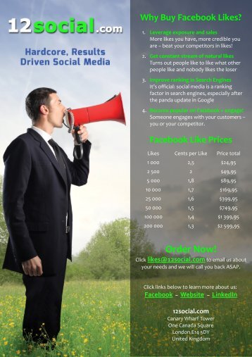 Why Buy Facebook Likes? - Google Drive