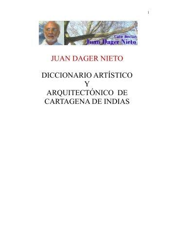 Diccionario Artístico y Arquitectónico de Cartagena de Indias.