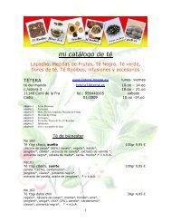 Lapacho, Mezclas de Frutas,