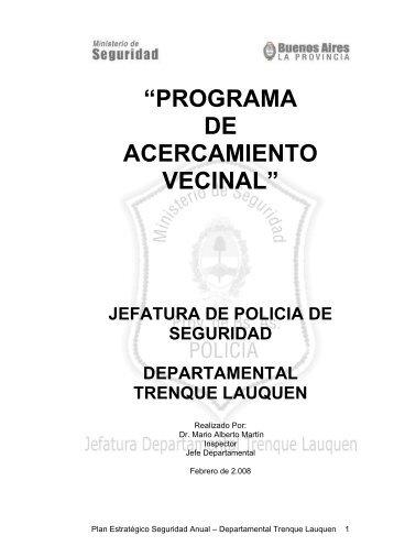 Programa de acercamiento vecinal - Ministerio de Justicia y Seguridad