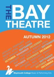BAY THEATRE AUTUMN 2012 PROGRAMME