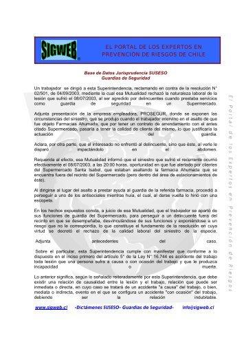 EL PORTAL DE LOS EXPERTOS EN PREVENCIÓN DE ... - Sigweb