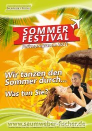 Sommer-Festival 2011 - Tanzschulen Saumweber-Fischer