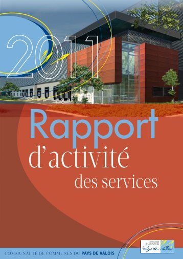 RaPPoRt d'actiVité des seRVices 2011 - Communauté de ...