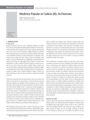 Medicina Popular en Galicia (III). As Doenzas - Asociación Galega ...