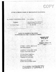 Petitioner's Reply to Informal Response to Petition for Writ of Habeas ...
