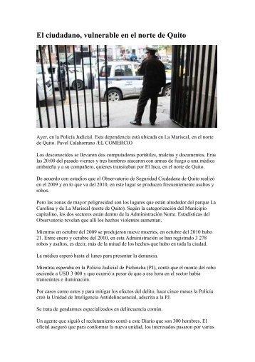 El ciudadano, vulnerable en el norte de Quito - AHK Ecuador