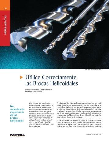 Herramientas Utilice Correctamente las Brocas Helicoidales