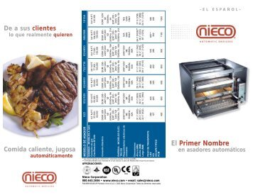 Nieco Tri-Fold Brochure for Multi Language Use