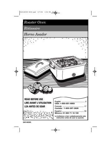 Roaster Oven Rôtissoire Horno Asador - Amazon S3
