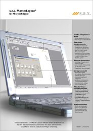 ML Word Kurzinfo - sax Software GmbH
