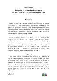Regulamento do Concurso de Bandas de Garagem na Praia da Foz ...