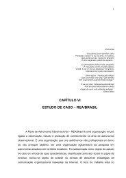 CAPÍTULO VI ESTUDO DE CASO – REA/BRASIL