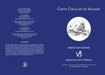 CARTA CIRCULAR DE VAISAKH - The World Teacher Trust
