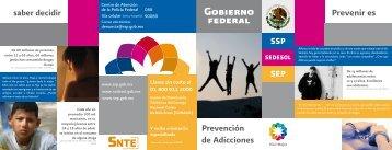 Encarte Prevención de Adicciones - SEPyC