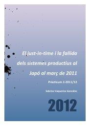 El just-in-time i la fallida dels sistemes productius al Japó al març de ...