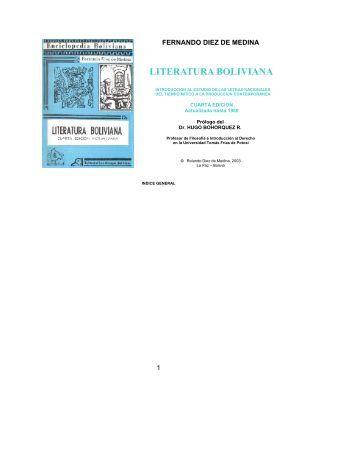 Literatura Boliviana -L-historia y crítica-1953-1980 - andes
