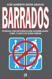 Luiz Alberto David Araujo BARRADOS Pessoa com deficiência sem ...