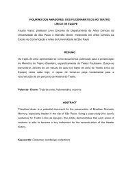 FIGURINO DOS AMADORES: DOS FILODRAMÁTICOS AO TEATRO ...